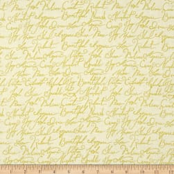 ADORNit Girls Gold Calligraphy Metallic Fabric