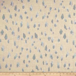 Lacefield Asher Swedish Blue Pearlized Canvas Fabric