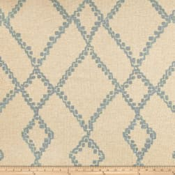 Lacefield Medina Swedish Blue Basketweave Fabric