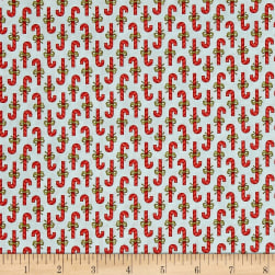 Moda Snowfall Prints Candy Cane Ice Fabric