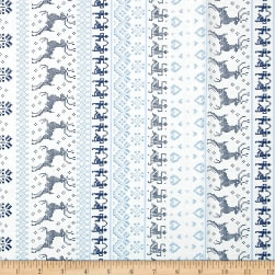Moda Nordic Stitches Knit Stripe Bla-Sno Fabric