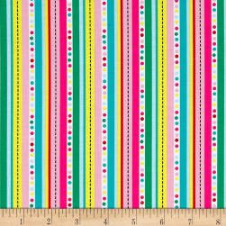Frosty Flamingo Multi Stripe Multi Fabric