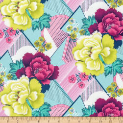 Amy Butler Splendor Double Fault Floral Moon Glow Fabric