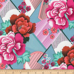 Amy Butler Splendor Double Fault Floral Cherry Fabric