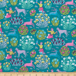 Amy Butler Splendor Forest Friends River Fabric