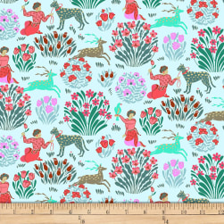 Amy Butler Splendor Forest Friends Sky Fabric