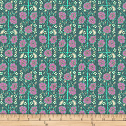 Amy Butler Splendor Pincushion Flower Sage Fabric