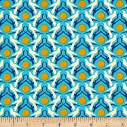 Heather Bailey Hello Love Blackbird Blue Fabric