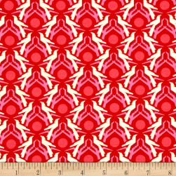Heather Bailey Hello Love Blackbird Red Fabric