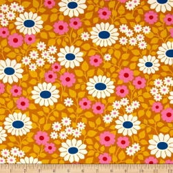 Heather Bailey Hello Love Fields Forever Gold Fabric