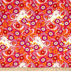 Heather Bailey Hello Love Octopus Garden Coral Fabric