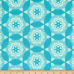 Heather Bailey Hello Love Guru Blue Fabric