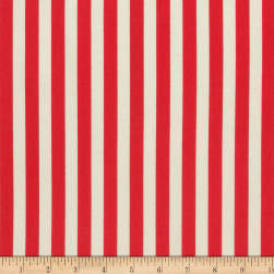 Tula Pink Tabby Road Tent Stripe Stawberry Fields