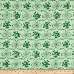 Verna Mosquera Peppermint Rose Ribbon Wreath Pine Fabric