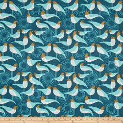Joel Dewberry Modernist Perch Peacock Fabric