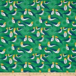 Joel Dewberry Modernist Perch Emerald Fabric