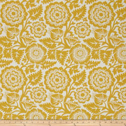 Joel Dewberry Modernist Blockprint Blossom Honey Fabric