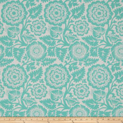 Joel Dewberry Modernist Blockprint Blossom Aqua Fabric