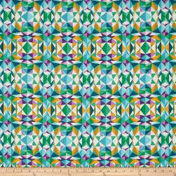 Joel Dewberry Modernist Prismatic Emerald Fabric