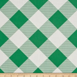 Joel Dewberry Modernist Pure Plaid Emerald Fabric