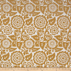 Joel Dewberry Modernist Voile Blockprint Blossom Gold