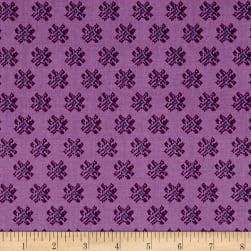 Snow Leopard Tribal Nomad Berry Fabric