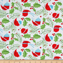 David Walker Merry Christmas Jolly Holly Merry Fabric