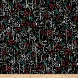 Not Your Garden Variety Floral Black Fabric