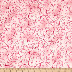 Ariel Scroll Light Pink Fabric