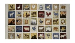 QT Fabrics Bountiful Farm Animals Small Patch 23.5