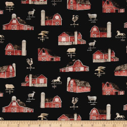 Bountiful Barns Black Fabric