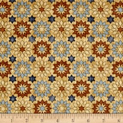 Bountiful Stars Tan Fabric