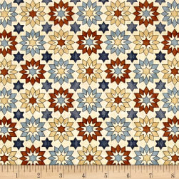QT Fabrics Bountiful Stars Natural Fabric
