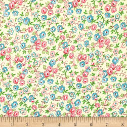 Bleecker Street Viney Rose Buttercream Fabric