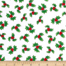 Loralie Designs Fairy Merry Christmas Holly Toss White