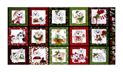 "Loralie Designs Kitty Kitty Christmas 23"" Panel Black"