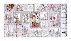 "Loralie Designs Sew Paree 24"" Panel White"