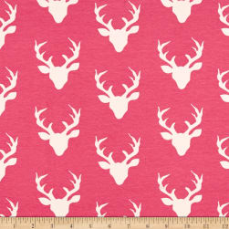 Art Gallery Buck Forest Jersey Knit Camellia Fabric
