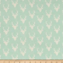 Art Gallery Tiny Buck Forest Jersey Knit Mint
