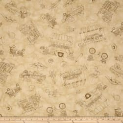 Maywood Studio From The Farm Toile Tan Fabric