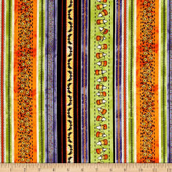 Maywood Studio Halloweenie Halloweenie Stripe Multi Fabric
