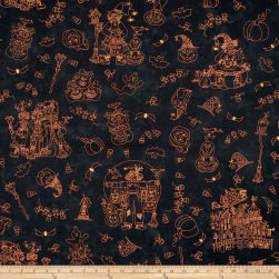 Maywood Studio Halloweenie Halloweenie Toile Black Fabric