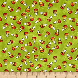 Maywood Studio Halloweenie Franken' Corn Green Fabric