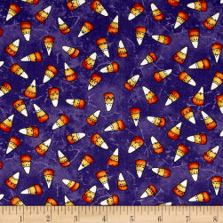 Maywood Studio Halloweenie Franken' Corn Purple Fabric