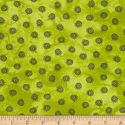 Maywood Studio Halloweenie Geo Swirls Green Fabric
