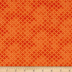 Maywood Studio Halloweenie Stitched Crosshatch Orange Fabric