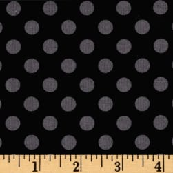Maywood Studio Kimberbell Basics Dots Black/Gray Fabric