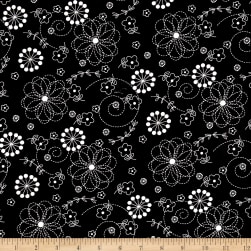 Maywood Studio Kimberbell Basics Doodles Black Fabric