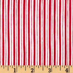 Maywood Studio Kimberbell Basics Little Stripe Red Fabric