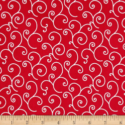 Maywood Studio Kimberbell Basics Scroll Red Fabric
